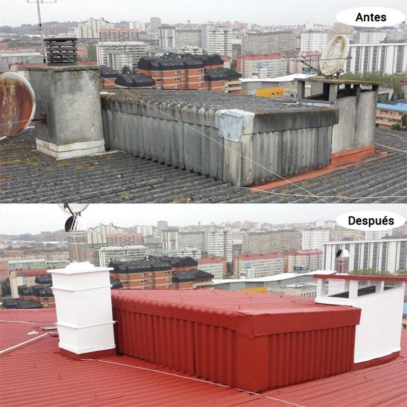Galer a de trabajos de desaf o vertical - Impermeabilizacion de tejados ...